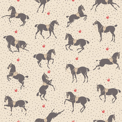 Dressage horse seamless