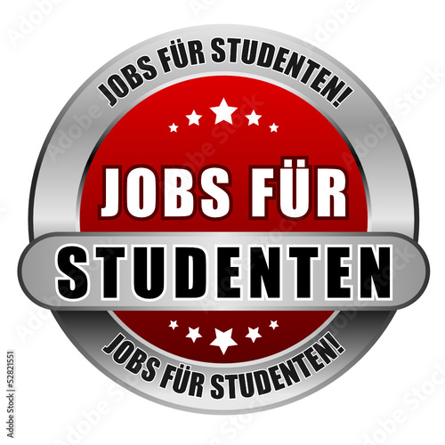 5 Star Button rot JOBS FÜR STUDENTEN JFS JFS