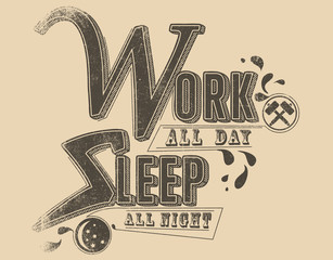 Work and sleep