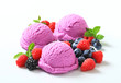 Berry fruit ice cream