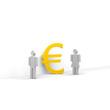 frau, mann, euro,