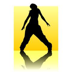 Break dancer yellow square