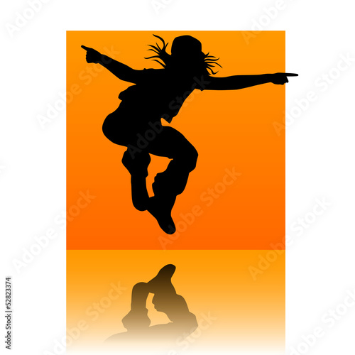 Break dancer orange square