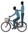 道交法違反の二人乗り自転車