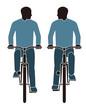 道交法違反 並走する自転車