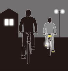 道交法違反 無灯火の自転車