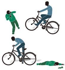 轢き逃げする自転車