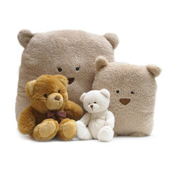Toy teddy bears isolated on white background