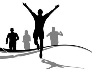 Menschen Gruppe Laufsport