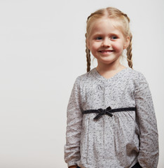 Kid girl fashion isolated portrait