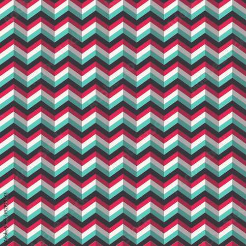 Chevron stylized geometric pattern