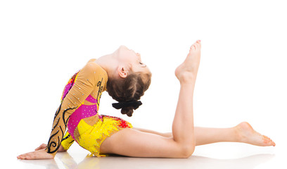 little girl gymnast