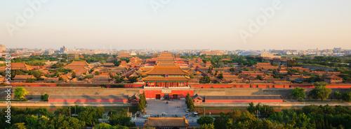 Foto op Aluminium Beijing overlook the Forbidden City in evening