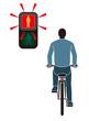 自転車と歩行者専用信号