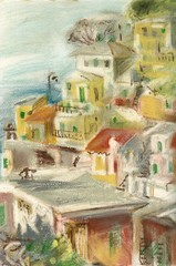 Riomaggiore, fishing village in Cinque Terre, Italy