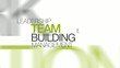 Team Building management word tag cloud animation