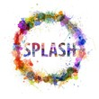 Splash concept, watercolor splashes as a sign
