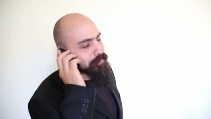 happy man on the phone having good news