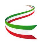 Fototapety nastro bandiera italia