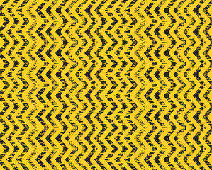 a construction arrow background in yellow and black