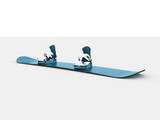 Modern snowboard blue color
