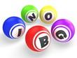 3d Bingo balls. WIn concept