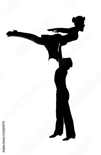 dancers in the air silhouette