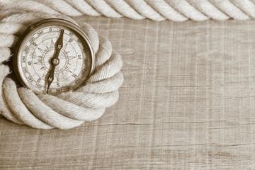 Holz Hintergrund rustikal nostalgisch mit Kompass