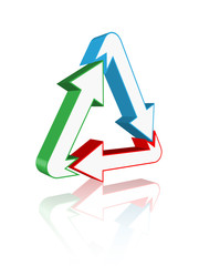 Triangle Arrow Logo (business corporate symbol icon)