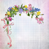 Flowers on vintage background