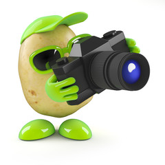 3d Potato has to take a photo