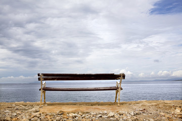 Bench looking towards the sea