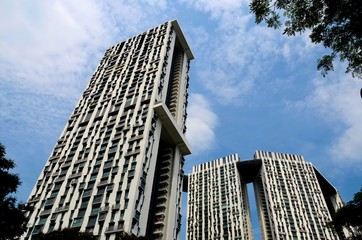 Modern high rise residential building towers