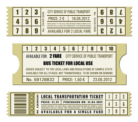 Bus ticket set