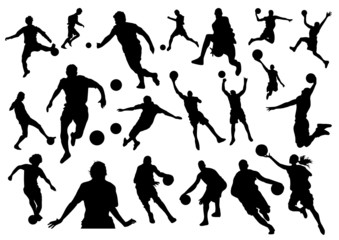 Football and Basketball Silhouettes