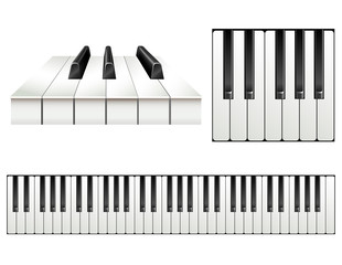 Piano key set