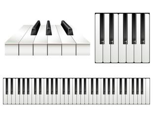 Piano key set