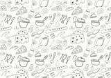 Seamless Food Icons