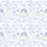 Weather symbols seamless pattern