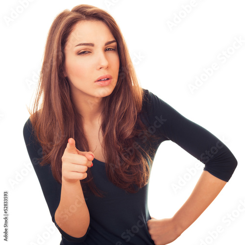 woman with suspicious shows on you finger