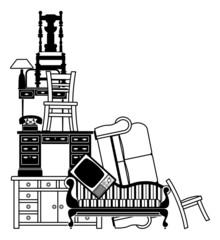 Stack of furniture