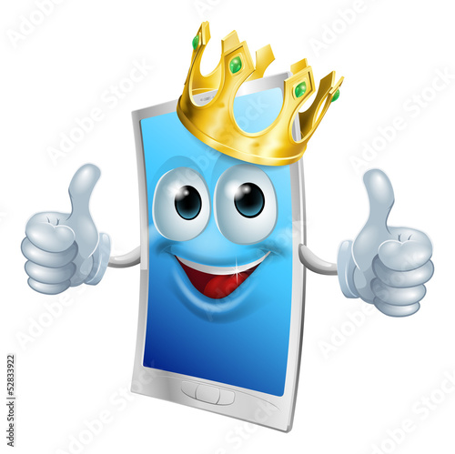 Mobile phone cartoon king