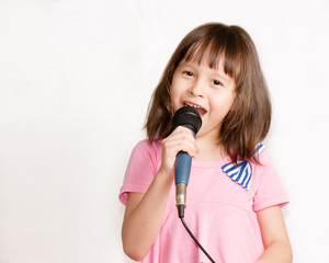 Asian Child singing