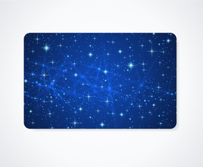 Business / Gift card template with night sky (cosmic stars)