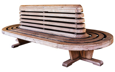 Old style railway station wood chair