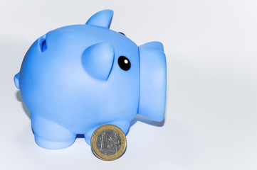 Salvadanaio con  1 euro