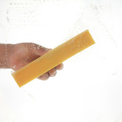Window cleaner using a sponge