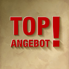 TOP ANGEBOT rot  Vintage