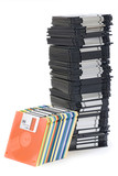 floppy disc tower