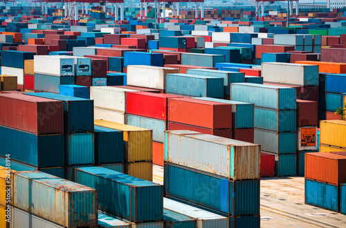 Aluminium lot's of cargo freight containers